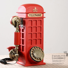Vintage landline phone fashion wall-mounted personalized household fashion antique rotating disk telephone