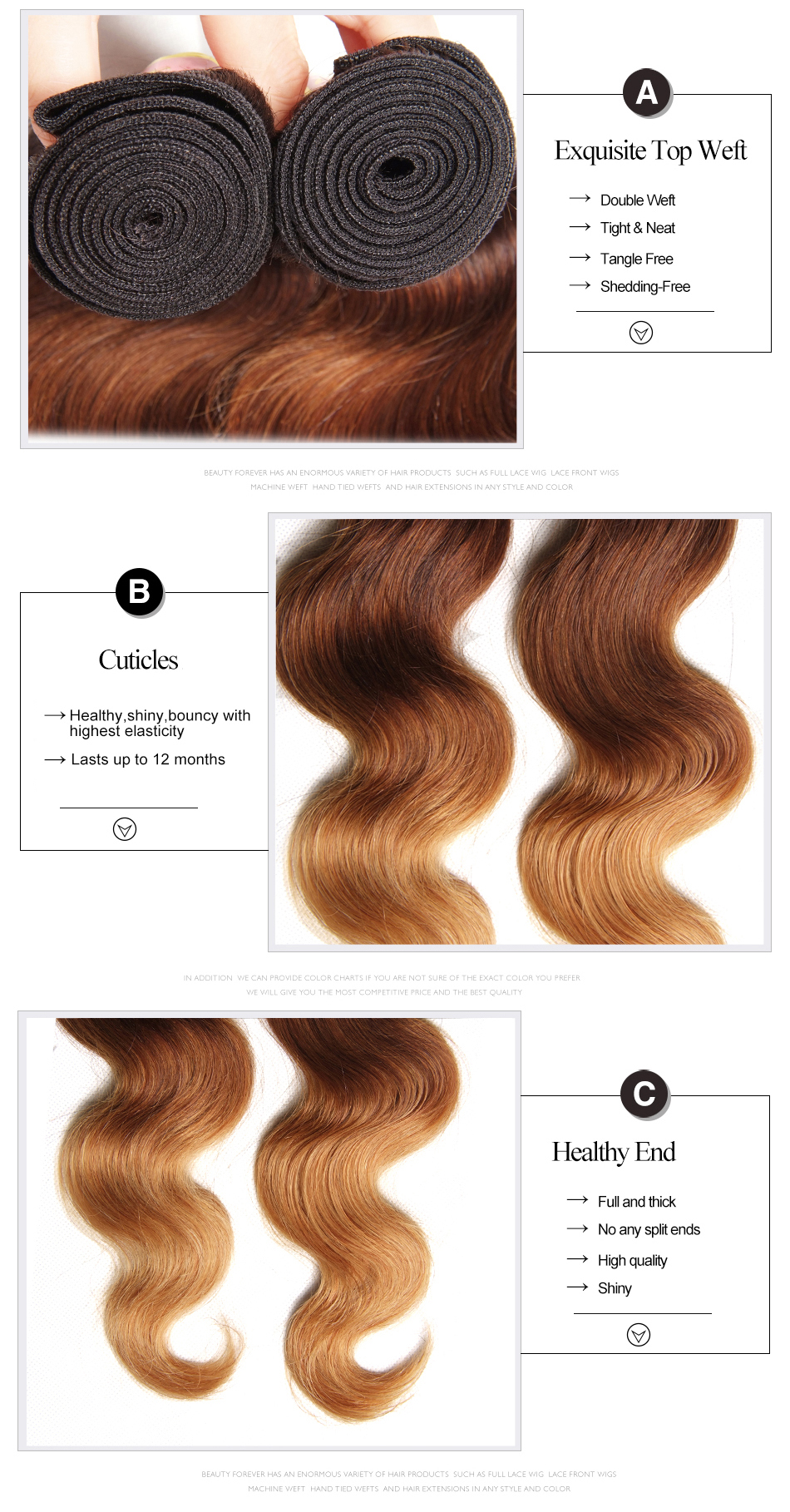 ombre Peruvian body wave hair (5.1)
