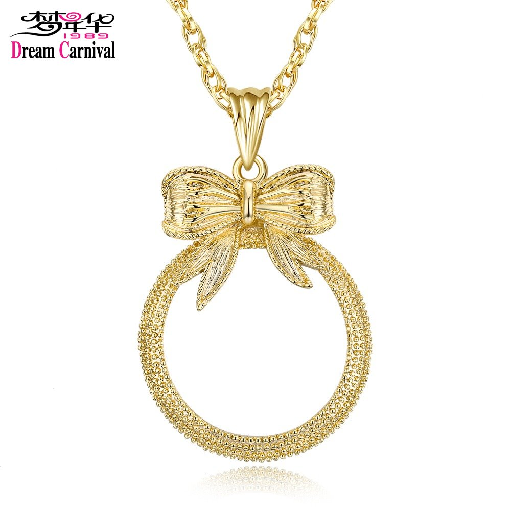 Classic Fashion Gift! Cute Bow shape Pendant Women Reading 2x Magnifying Glass Top Quality Necklace Reading Glass Pendant (5)