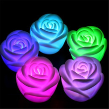Rose Night Light Romantic Flower 7 Color Changed Lamp LED Night Light Party Christmas Decoration Lamp Light Great Gift For Kids