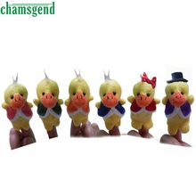CHAMSGEND 6pcs Finger Hand Puppets Plush Toys For Kids Ducks Animal Finger Gloves puppets baby toys reborn dolls Toy Gift WOct1
