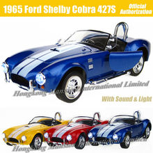 1:26 Scale Alloy Metal Diecast Car Model For 1965 Ford Shelby Cobra 427S/C Collection Class Model Toys Car With Sound&Light(China)