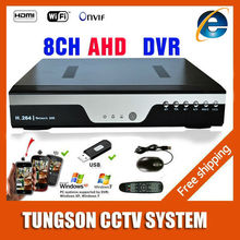 Hot Products 8CH AHD DVR 1080P 12fps AHDNH CCTV Recorder Camera Network 8 Channel IP NVR 4CH Audio Input Multi-language alarm