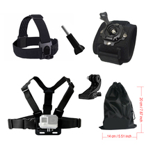 Sport Action Camera Accessories kit for Gopro Chest Head Wrist Mount Strap For Go pro Hero Xiaomi Yi SJCAM SJ4000 Camera(China)