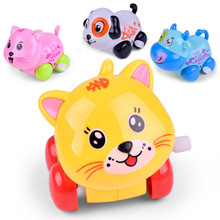 1Pcs Fun Cartoon Animal Dog/Cat/Cattle Wind Up Toy Mini Crawling Clockwork Classic Toys Newborn Baby Spring Toy(China)