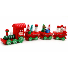 Christmas Decorations for Home 2017 Natal Navidad Ornaments Wooden Little Train Gifts for Children