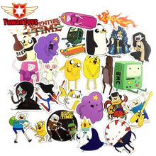 25Pcs American Drama Adventure Time Funny Anime Sticker Decal For Car Laptop Bicycle Pvc Cool Doodle Notebook Waterproof Sticker(China)