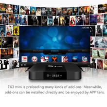 TX3mini 2017 Android 7.1 Latest Smart TV BOX S905W Quad Core Media Movies Sports Aug29 Professional Factory Price Drop Shipping(China)