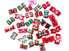 New Arrival 10pcs/ lot Mix Christmas Designs dog bows pet hair bows for holidays,pet dog hair accessories pet grooming products(China)