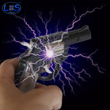(LONSUN)Fool 's Day Funny Prank Trick Novelty Electric Shock Pistol Toy And A Shocking Experience Friend's Best Gift(China)