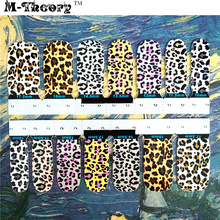 M-Theory Adhesive Nails Wraps Stickers Leopard Print 3D Nails Arts Polish Gel varnish Decals Manicure Makeup Tools(China)
