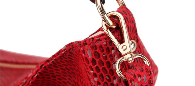 Women Snake Leather Shoulder Bag Female Serpentine Pattern Hobos Bags Tassel Big Handbag Luxury Designer Ladies Tote SS0309 (5)