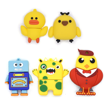 cartoon animal usb flash drive cute Chicken duck robot 32gb pendrive memory stick pen drive 64GB 16gb 8gb 4gb U disk lovely gift(China)
