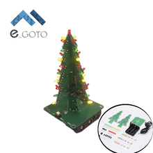 DIY Kit Three-Dimensional 3D Christmas Tree LED Kits Red/Green/Yellow LED Flash Electronic Circuit Fun Suite Parts DC 9V