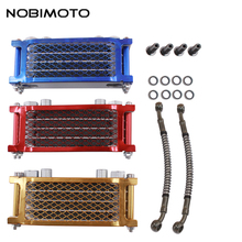 Scooter 50cc Radiator Motorcycle Oil Cooler With 200mm Tubing Engine Cooling Fit For 50cc-160cc Oil-cooled Engines CNC-181-1(China)