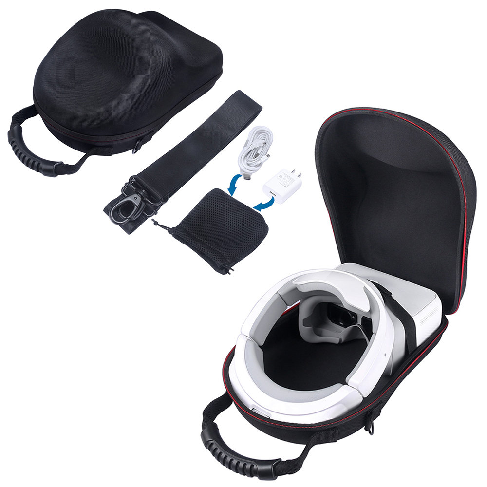 Fashion Hard Travel Carrying Bag Cover Box Case for DJI Goggles Immersive FPV VR Double HD Screens Drone Accessories-With Belt<br>