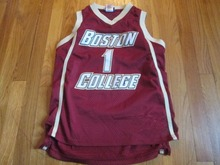 VINTAGE BOSTON College Basketball Jersey Embroidery Stitched Custom any Number and name