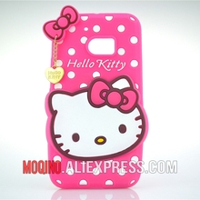 For HTC One M10 Case 3D Lovely Cute Hello Kitty Kt Cat Silicon Back Case Soft Cover Phone Case