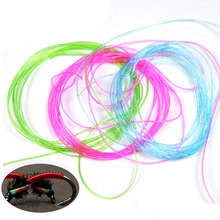 Clear Stretch Rib Round Larvae Lace Nymph Ribbing Material Body Fly Tying Line New Green Red Brown Pink Multiple Color(China)