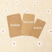 200pcs Kraft Paper Gift Tag Blank Brown Wedding Note Packing Labels Candy Boxes/Handmade Cupcake Labels Christmas Price Tags