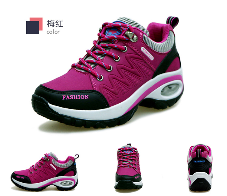 17 High quality Sneakers women shoes Running shoes woman leather Sport Shoes Air damping Outdoor arena Athletic zapatos mujer 11