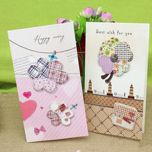 (8 pieces/lot)Promotional Gift Ideas Dimensional Universal Greeting Cards Best Wish for You Paper Gift Card Free Shipping