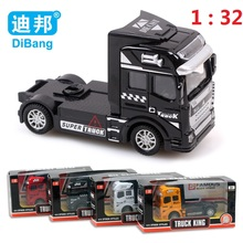 Good quality Container Truck Kids Toys Car 1:32 Pull Back Hot Wheels Alloy Plastic Toy Model Cars Children's Gift