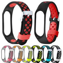 Buy New Lightweight Silicone Replacement Ventilate Sport Soft Wrist Strap Wristband Xiaomi Mi Band 3 Aug6 for $1.73 in AliExpress store