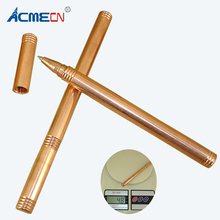 ACMECN Handmade Copper Liquid Gel ink Pen 0.5mm Unique Cool Pen Novelty Design Heavy Pens Writing Instrument Stationery Gifts(China)