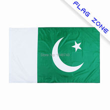 2017 The Pakistan Flag   Polyester Flag 5*3 FT 150*90 CM High Quality Hanging and Flying