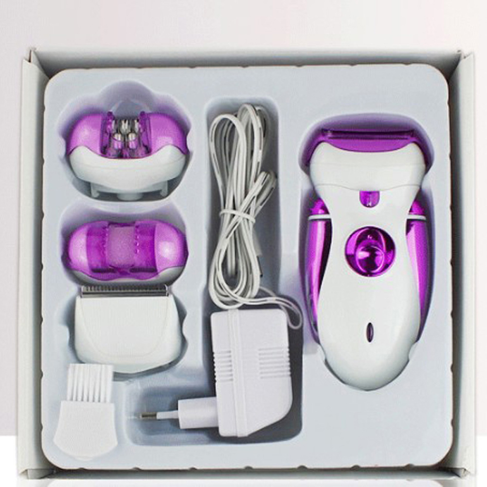 New 4 in 1 Women Shave Wool Device 0741 Knife Electric Shaver Wool Epilator Shaving Ladys Shaver Female Care<br>