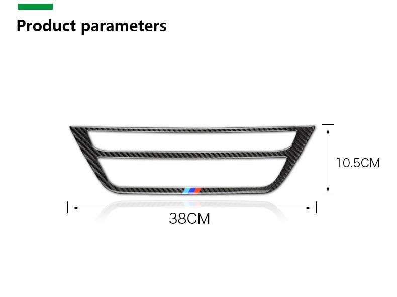 BMW 5 Series G30 528i 530i 540i Carbon Fiber Car Central Console Decorative Frame Interior Accessories Car Styling (11)
