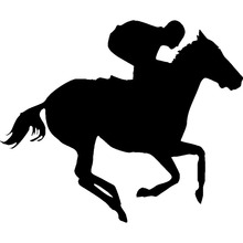 18.2*15.2CM Horse Racing Decals Personalized Car Stickers Car Cover Scratches Fashion Decorative Accessories C4-0336