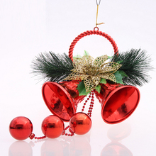 jingle bells christmas pendant & drop ornaments large tree ornament christmas tree decorations christmas bells(China)