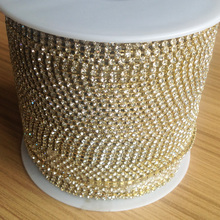 shiny A grade 2mm chain cup rolls for diamante  accessory 10 yards each roll 9 meters wholesale price here