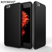 Newest Environmental Carbon Fiber Case For iPhone 6 6S Plus Soft Anti-Skid Anti-Knock Cover For iPhone 7 8 X 10 Leather Skin Bag
