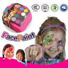 Children Cosmetics akvagrim pens Neon makeup Tool For kids face paint maquiagem pigment crayons Halloween Make up Kit(China)