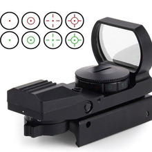 20mm/11mm Rail Riflescope Hunting Tactical Holographic 1x22x33 Reflex Red Green Dot Sight Scope