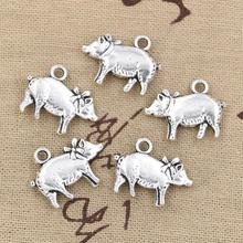 10pcs Charms 3D pig 21*16mm Antique pendant fit,Vintage Tibetan Silver,DIY for bracelet necklace