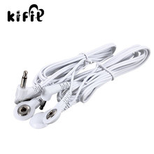 KIFIT Durable 1 Pair Replacement Electrode Pads TENS Unit Lead Wires Cables for Tens EMS Standard 3.5mm Connection Massage Tools