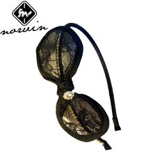 Norvin new 2016 hair accessories for women Black lace diamond hairbands women 2 colors Korean hair band C-fg001 top sell(China)