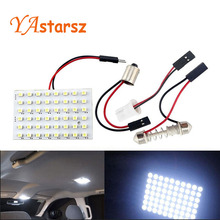 48 LED Auto Car Dome Festoon Interior Bulb Roof Light Lamp with T10 BA9S Festoon Adapter Base Reading light High Quality