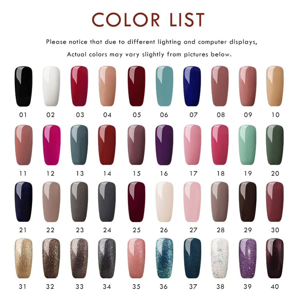 COSCELIA 10PCS Gel Nail Polish Set For Manicure With 36W Led Lamp Tools For Manicure Nail Art Nail Kit Pusher All For Manicure