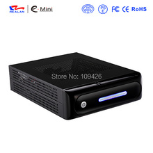 Realan Silver Horizontal Vertical Rackmount Chassis Mini ITX  HTPC Computer Case E 2012 with Power Supply External Drive Bay