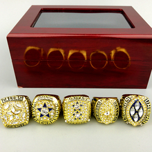 Fast delivery for US businessman 1971/1977/1992/1993/1995 super bowl Dallas Cowboys Championship Ring full set(China)