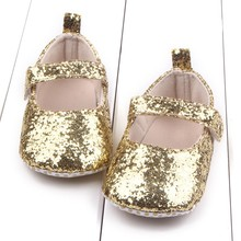 First Walker Toddler Baby Girls Cotton Sequin Infant Kids Soft Sole Shoes Bottom Bebe Shoes(China)