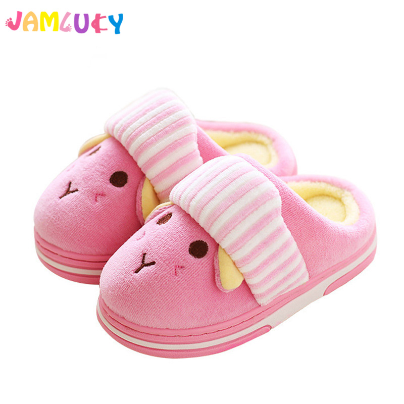Children Slippers Home Use Winter Indoor Girls Shoes Boys Cute pantufa Warm Cotton Kids Home Slippers Girls Shoes zapatillas