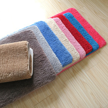 Solid Cotton Water Adsorption Bath Mat,Rugs and Carpets for Home Living Room Bathroom Mat Toilet Door Mat Bathtub Mat