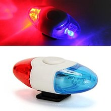 free shipping Mini Waterproof Police Light 4 LED 4 Flash Mode Bicycle Bike Cycling Rear Light Safety Warning Tail Light Lamp