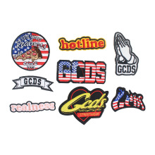 1PCS Logo Embroidered Patches For Clothing British Style Fashion Patches For Clothes Stripes On The Clothes Diy Accessory